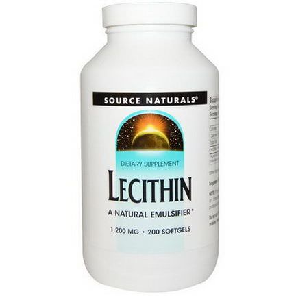 Source Naturals, Lecithin, 1,200mg, 200 Softgels