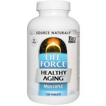 Source Naturals, Life Force Healthy Aging, Multiple, No Iron, 120 Tablets