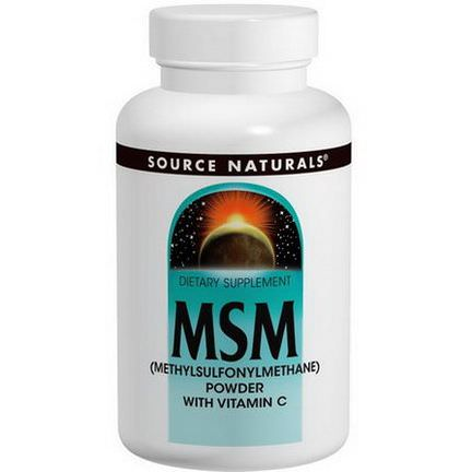 Source Naturals Methylsulfonylmethane Powder, with Vitamin C 227g