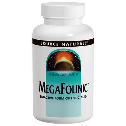 Source Naturals, MegaFolinic, 800mcg, 120 Tablets