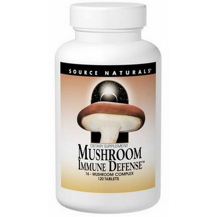 Source Naturals, Mushroom Immune Defense, 120 Tablets