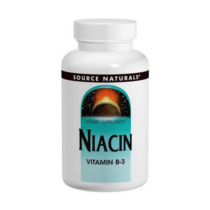 Source Naturals, Niacin, 100mg, 250 Tablets
