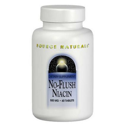 Source Naturals, No-Flush Niacin, 500mg, 60 Tablets
