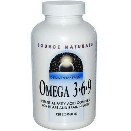 Source Naturals, Omega 3 6 9, 120 Softgels
