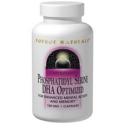 Source Naturals, Phosphatidylserine, DHA Optimized, 100mg, 30 Capsules