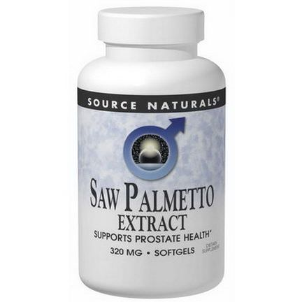 Source Naturals, Saw Palmetto Extract, 320mg, 120 Softgels