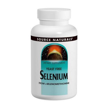 Source Naturals, Selenium, From L-Selenomethionine, 200mcg, 120 Tablets