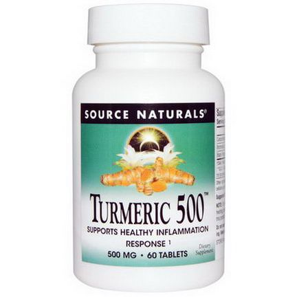 Source Naturals, Turmeric 500, 60 Tablets