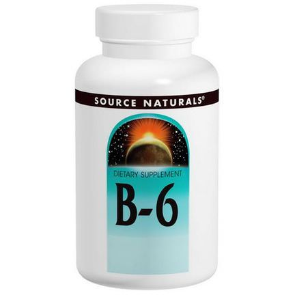 Source Naturals, Vitamin B-6, 100mg, 100 Tablets