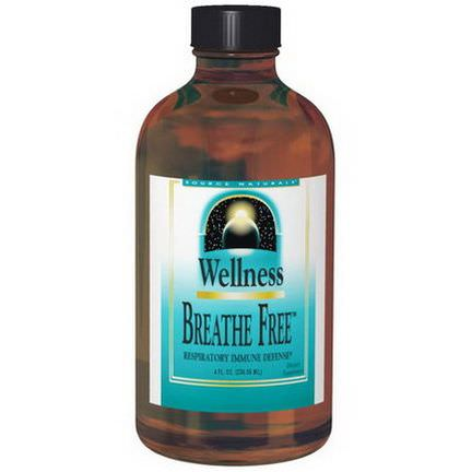 Source Naturals, Wellness, Breathe Free 236.56ml