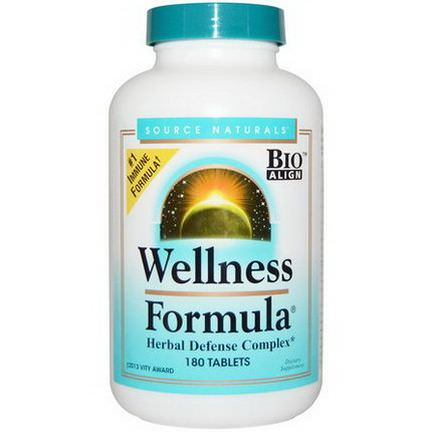 Source Naturals, Wellness Formula, With Andrographis and Propolis Extract, 180 Tablets