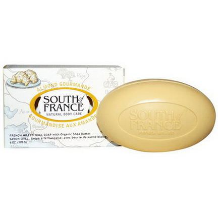 South of France, Almond Gourmande, French Milled Oval Soap with Organic Shea Butter 170g