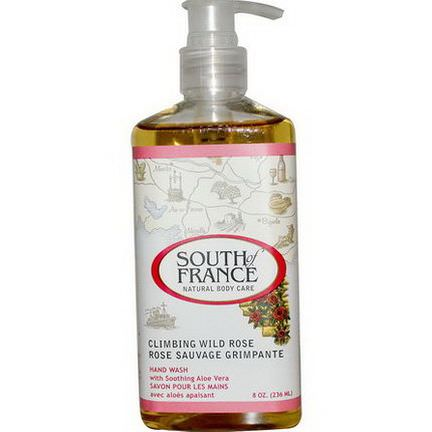 South of France, Climbing Wild Rose, Hand Wash with Soothing Aloe Vera 236ml