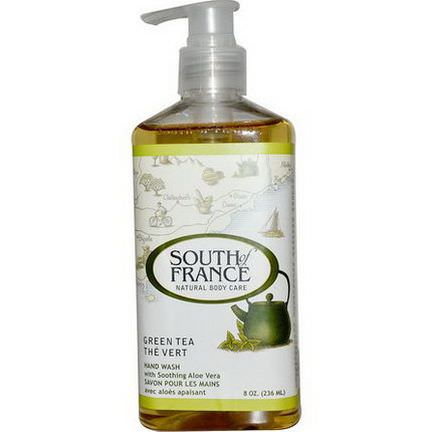 South of France, Green Tea, Hand Wash with Soothing Aloe Vera 236ml