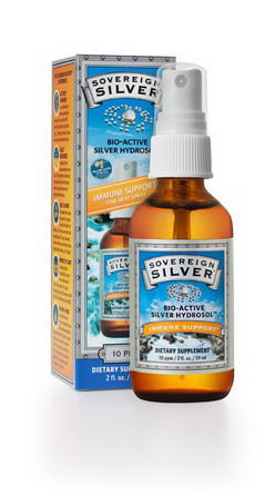 Sovereign Silver, Colloidal Bio-Active Silver Hydrosol, Fine-Mist Throat Spray, 10 PPM 59ml