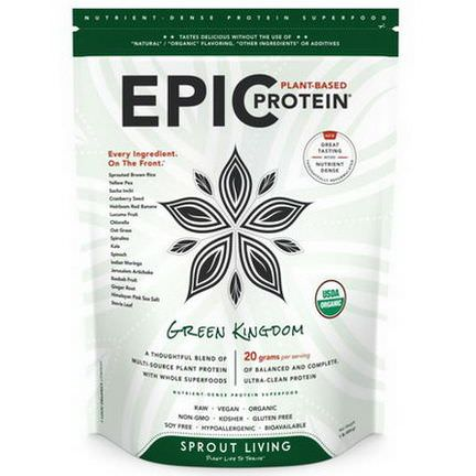 Sprout Living, Epic Protein, Green Kingdom 454g