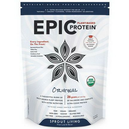 Sprout Living, Epic Protein, Original 454g