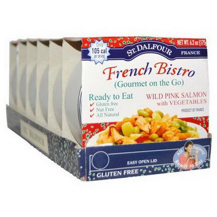 St. Dalfour, French Bistro, Wild Pink Salmon with Vegetables, 6 Pack 175g Each