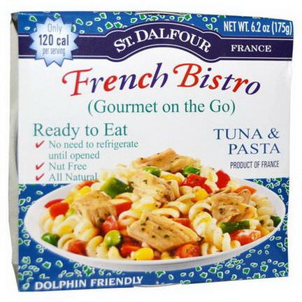 St. Dalfour, Gourmet on the Go, French Bistro, Tuna&Pasta, 6 Pack 175g Each