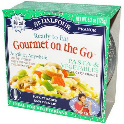St. Dalfour, Gourmet on the Go, Pasta&Vegetables, 6 Pack 175g Each