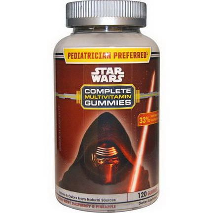 Star Wars, Complete Multivitamin Gummies, Mixed Berry, Raspberry and Pineapple, 120 Gummies