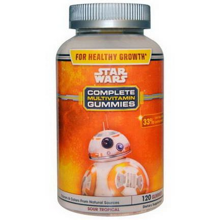 Star Wars, Complete Multivitamin Gummies, Sour Tropical, 120 Gummies