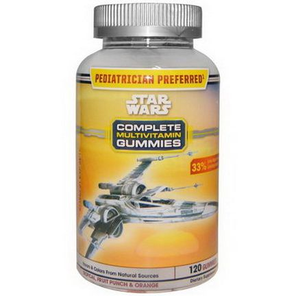 Star Wars, Complete Multivitamin Gummies, Tropical, Fruit Punch&Orange, 120 Gummies