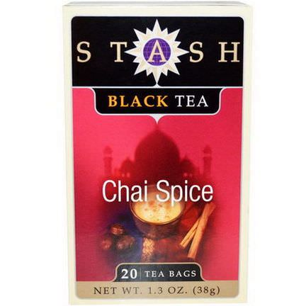 Stash Tea, Black Tea, Chai Spice, 20 Tea Bags 38g