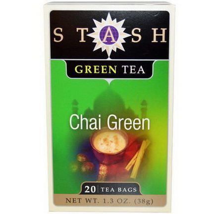 Stash Tea, Chai Green Tea, 20 Tea Bags 38g