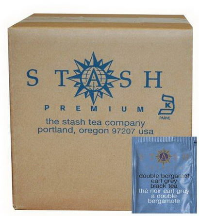 Stash Tea, Double Bergamot Earl Grey Black Tea, 100 Foil Teabags 180g