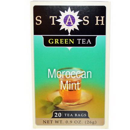 Stash Tea, Green Tea, Moroccan Mint, 20 Tea Bags 26g