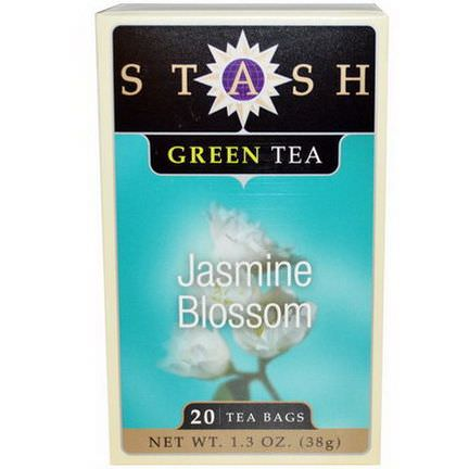 Stash Tea, Jasmine Blossom, Green Tea, 20 Tea Bags 38g