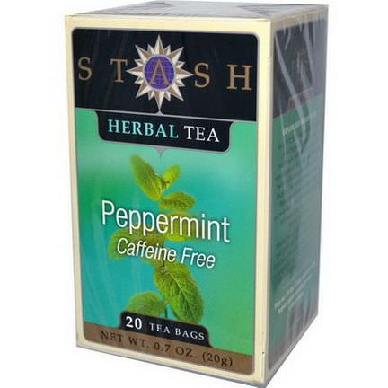 Stash Tea, Premium Peppermint Herbal Tea, Caffeine Free, 20 Tea Bags 20g