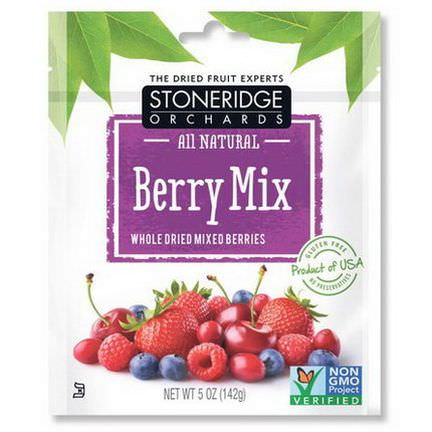 Stoneridge Orchards, Berry Mix, Whole Dried Mixed Berries 142g