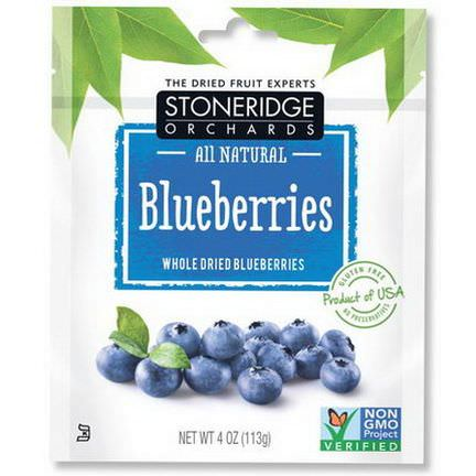 Stoneridge Orchards, Blueberries, Whole Dried Blueberries 113g