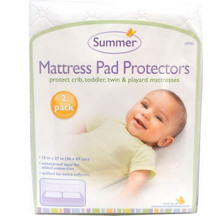 Summer Infant, Mattress Pad Protectors, 2 Pack