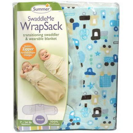 Summer Infant, SwaddleMe WrapSack, Small, 7-14 lb, Newborn
