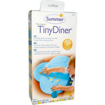Summer Infant, The Original TinyDiner Portable Placemat, Blue, 1 Mat