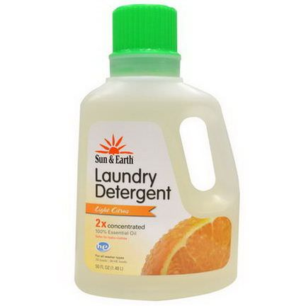 Sun&Earth, Laundry Detergent, Light Citrus Scent, 2x Concentrated 1.48 l