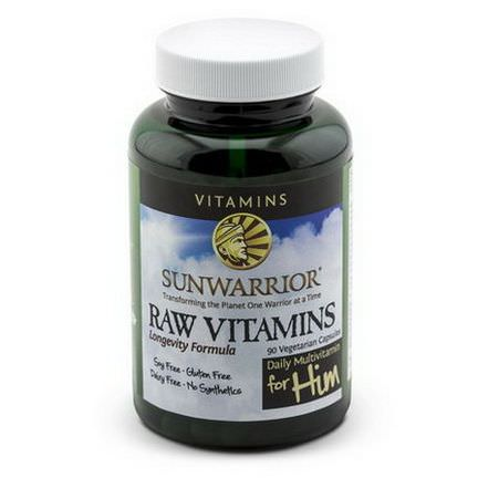 Sunwarrior, Raw Vitamins, Daily Multivitamin for Him, 90 Veggie Caps