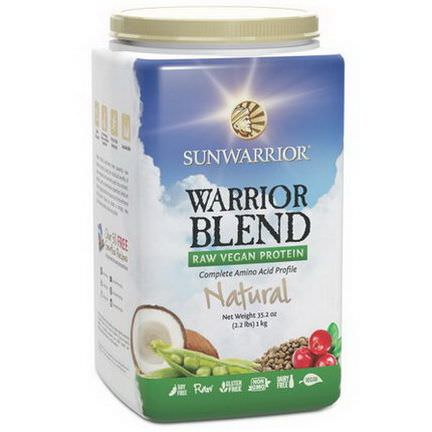 Sunwarrior, Warrior Blend, Raw Vegan Protein, Natural 2.2 lbs