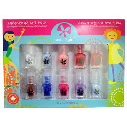 Suncoat Girl, Water-Based Nail Polish Kit, Flare&Fancy, 10 Pieces