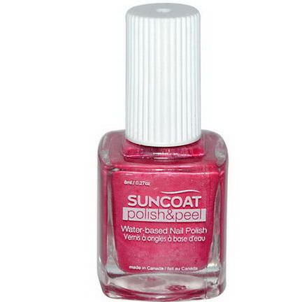 Suncoat, Polish&Peel, Water-Based Nail Polish, Pink Dahila 8ml