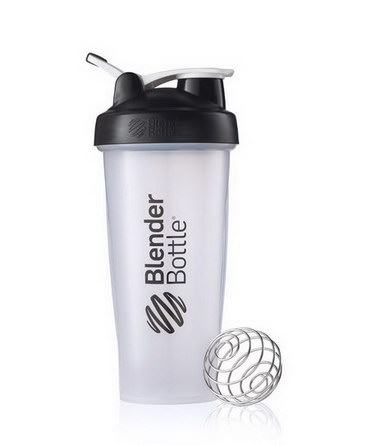 Sundesa, Classic Blender Bottle with Loop, Black, 28 oz Bottle