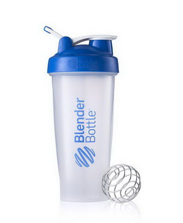 Sundesa, Classic Blender Bottle, with Loop, Blue, 28 oz Bottle