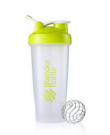 Sundesa, Classic Blender Bottle with Loop, Lime Green, 28 oz Bottle
