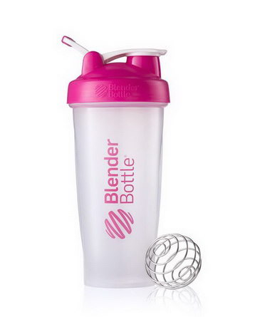 Sundesa, Classic Blender Bottle with Loop, Pink, 28 oz Bottle