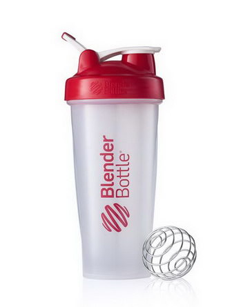 Sundesa, Classic Blender Bottle with Loop, Red, 28 oz Bottle