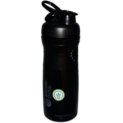 Sundesa, SportMixer Blender Bottle, Black/Black, 28 oz