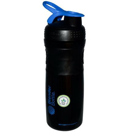 Sundesa, SportMixer Blender Bottle, Black/Blue, 28 oz